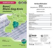 Fahrplanbuch 2014 - Bereich 6 - Bonn/Rhein-Sieg Kreis - VRS