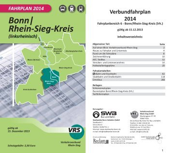 Fahrplanbuch 2014 Bereich 3 Oberbergischer Kreis Vrs