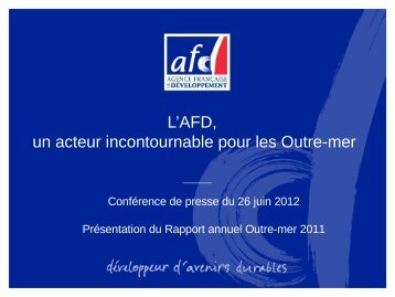 Titre de la présentation sur deux ou trois lignes - Agence Française ...