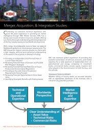 Merger, Acquisition, & Integration Studies