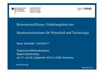 PDF Schneider - Ressourceneffizienz