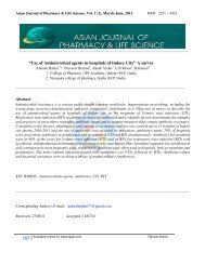 ISSN 2231 - asian journal of pharmacy & life science