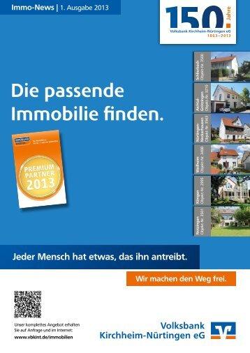 Volksbank Kirchheim-Nürtingen eG: Immo-News 1/2013