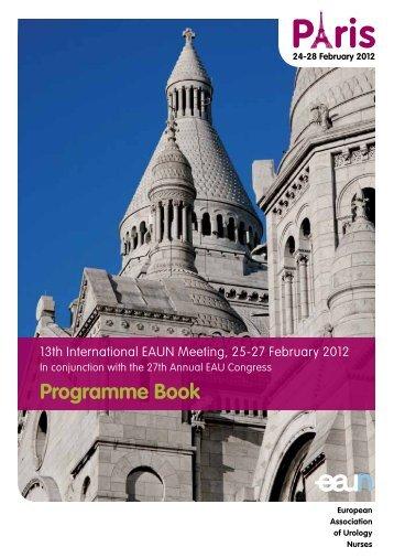 Programme Book - European Association of Urology
