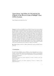 Approximate Algorithms for Maximizing the ... - Arash Abadpour