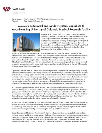 Wausau's curtainwall and window systems contribute to ... - BOMA