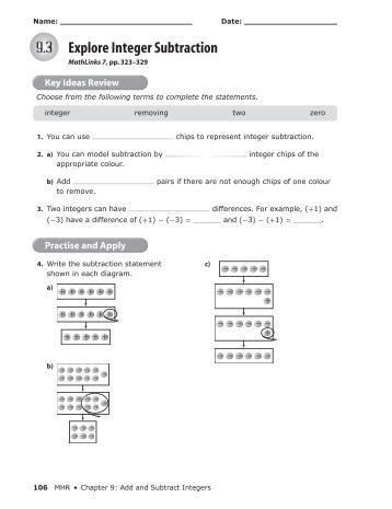 Pre School Worksheets : number line adding integers worksheet ...