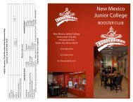 Booster Club Brochure - New Mexico Junior College