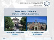 Double Degree Degree Programme International Nature Conservation
