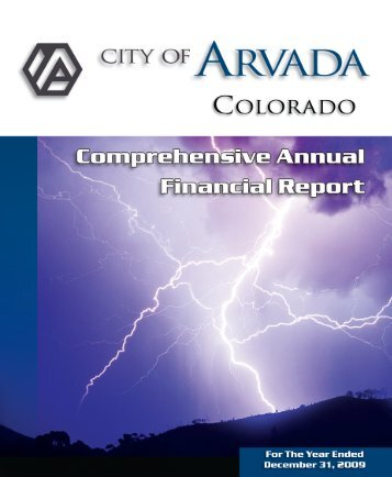 CAFR Tabs and Dividers - Arvada