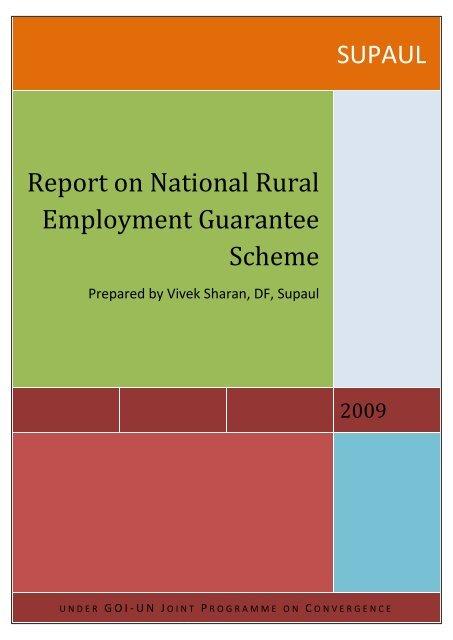 SUPAUL Report on National Rural Employment Guarantee Scheme