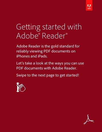 Getting started with Adobe® Reader®