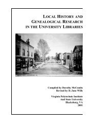 Local History and Genealogical Research - Special Collections