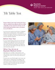 Tilt Table Test - Baystate Health