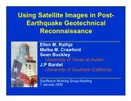 Using Satellite Images in Post - Geotechnical Extreme Events ...