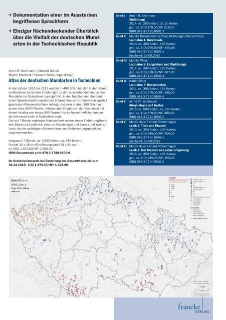 Atlas der deutschen Mundarten in Tschechien + Dokumentation ...