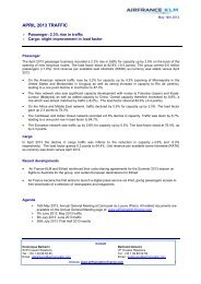 APRIL 2013 TRAFFIC - Air France-KLM Finance