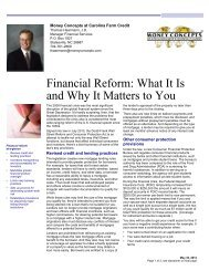 Financial Reform: What It Is and Why It Matters to You