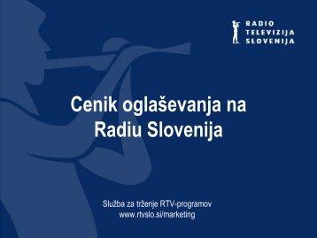 Cenik oglaševanja na Radiu Slovenija - RTV Slovenija