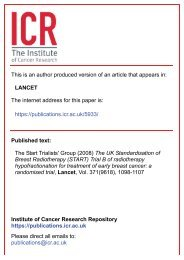 The UK Standardisation of Breast Radiotherapy (START) Trial B of ...