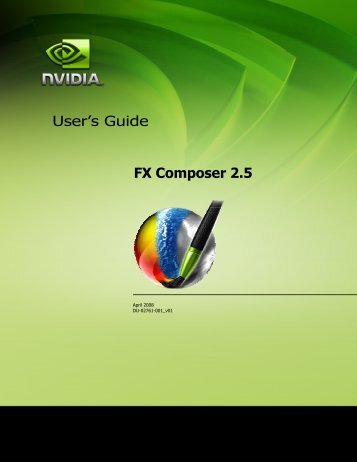 FX Composer User Guide - NVIDIA Developer Zone