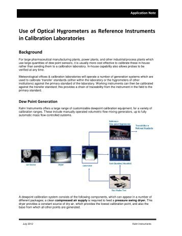 Optical Chilled Mirror Hygrometers The Kahn Companies