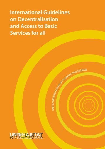 International Guidelines on Decentralisation and Access to ... - UCLG