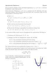 Quadratische Funktionen Theorie Eine quadratische ... - gxy.ch
