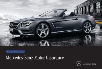 Agility brochure mercedes benz for Mercedes benz insurance