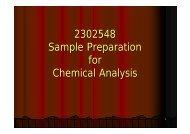 2302548 Sample Preparation for Chemical Analysis