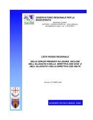 lista rossa regionale delle specie presenti in liguria incluse nell ...