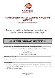 MARCHE PUBLIC PASSE SELON UNE PROCEDURE ... - Compa