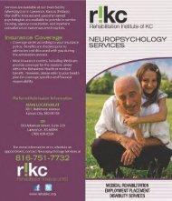 Program Brochure - Rehabilitation Institute of Kansas City