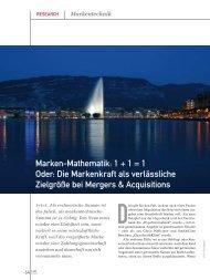 Marken-Mathematik - Institut für Markentechnik Genf