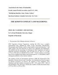 THE KOSOVO CONFLICT AND MACEDONIA - Makedonika