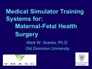 Medical Simulator Training Systems for: Maternal-Fetal Health ...