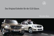 Das Original-Zubehör für die GLK-Klasse. - Mercedes