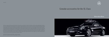 Genuine accessories for the SL-Class - Mercedes