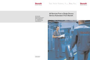 Services From a Single Source. Service Automation ... - Bosch Rexroth