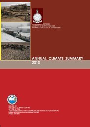 ANNUAL CLIMATE SUMMARY 2010 - (IMD), Pune