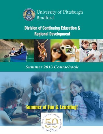 Summer Coursebook - University of Pittsburgh Bradford