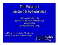 Systematic collection and archiving of post-EQ data ... - GEER