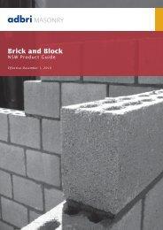 Adbri Masonary Brcik and Block Brochure - Shoalhaven Brick and Tile