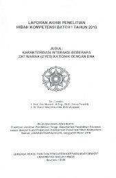 laporan akhir penelitian hibah kompetensi batch i tahun 2010