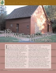 The Dr. William Robinson Plantation - Garden State Legacy