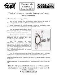 Elections à la CAPD du 2 décembre 2008 - Haute-Loire