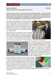 Nischenprodukte aus Glasgewebe von Klevers - ZiTex