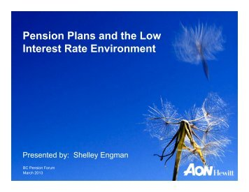 Pension Plans and the Low Interest Rate Environment
