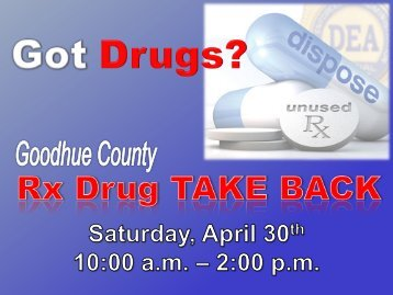 Turn in your unused or expired medication for safe disposal! - CHI of ...