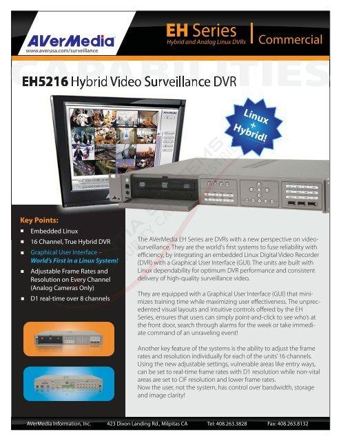 AVERMEDIA EH5216+ DRIVERS FOR WINDOWS 7